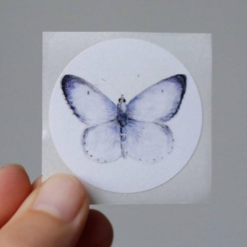Aufkleber Schmetterling Bläuling