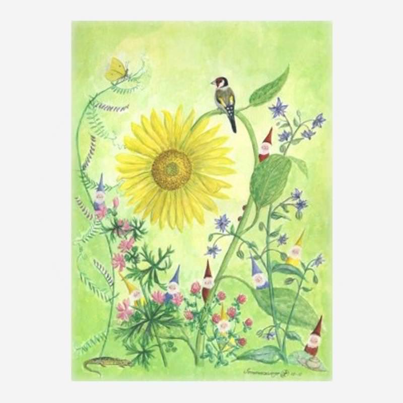 """Postkarte """"Sommerzwerge"""" von Anna Lübsee"""