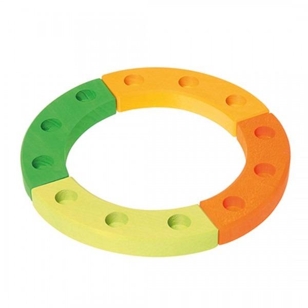 Geburtstagsring grün-orange klein