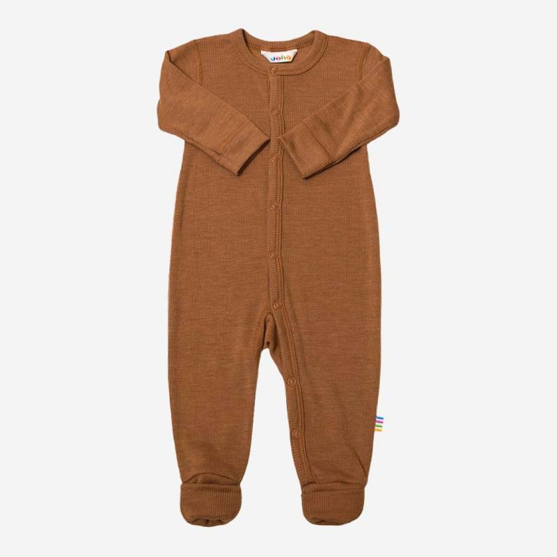Baby Schlafanzug von Joha aus Wolle/Seide in kupfer
