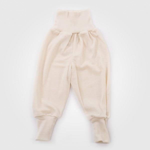 Frühchen Babyhose Wolle/Seide natur