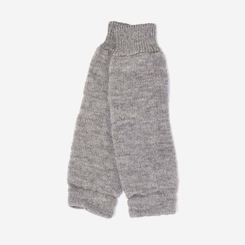 Stulpen von Hirsch aus Wolle für Erwachsene in grau