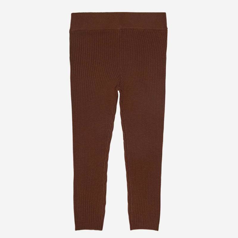 Leggings Wolle umber