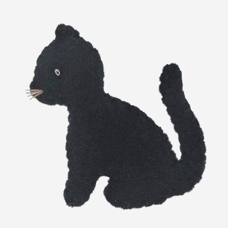 Kleine Filz Freunde schwarze Katze