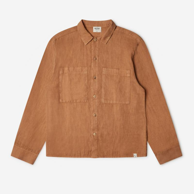 Unisex Bobbie Shirt Adult von Matona aus Leinen in hazel