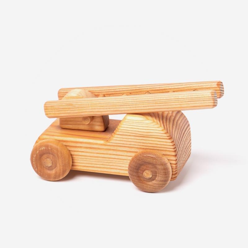 Feuerwehr Auto von Debresk aus Holz natur