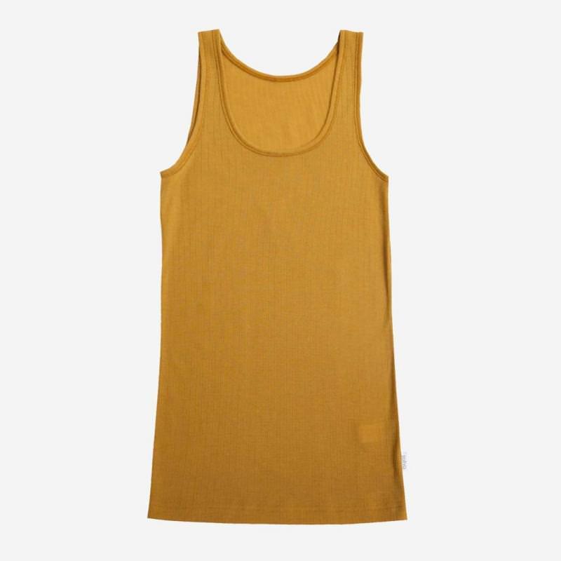 Unterhemd Merinowolle gelb Joha