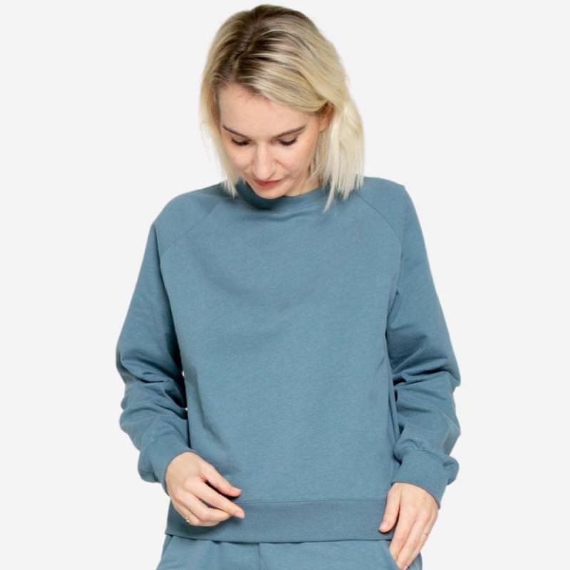 Women Cosy Sweater pigeon blue