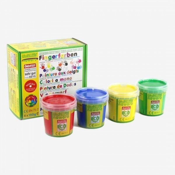 Fingerfarben 4er Set