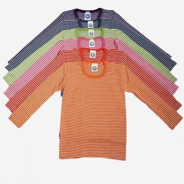 Unterhemd Ringel Wolle/Seide