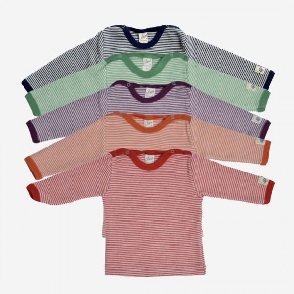 Shirt Wolle/Seide Ringel