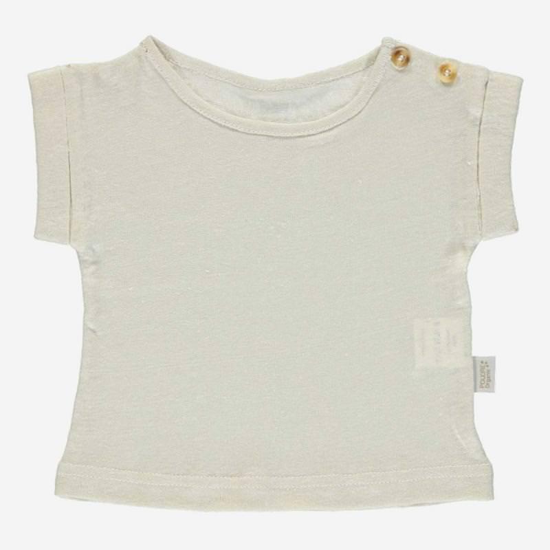 T-Shirt BOURRACHE Leinen almond milk