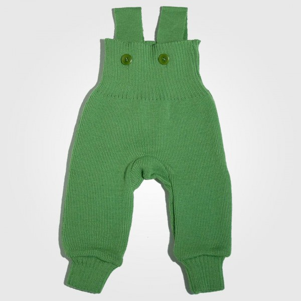 Strick Trägerhose Wolle grün