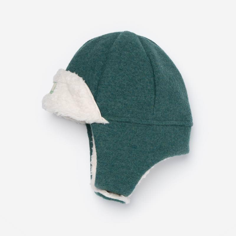 Mütze Fynn Wollwalk mineral blue