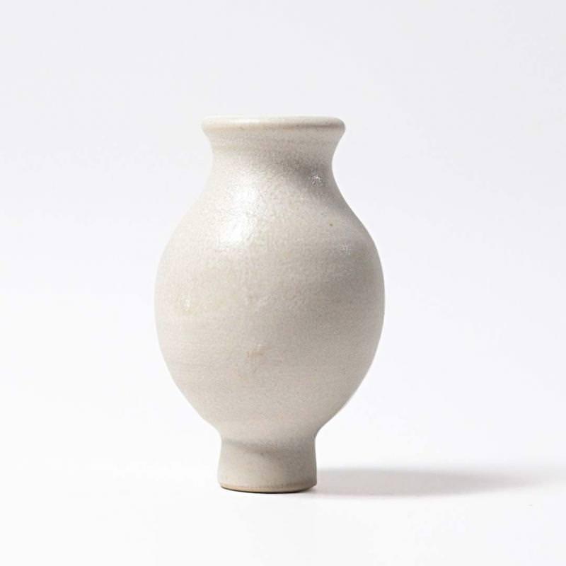 Figurenstecker Vase weiß