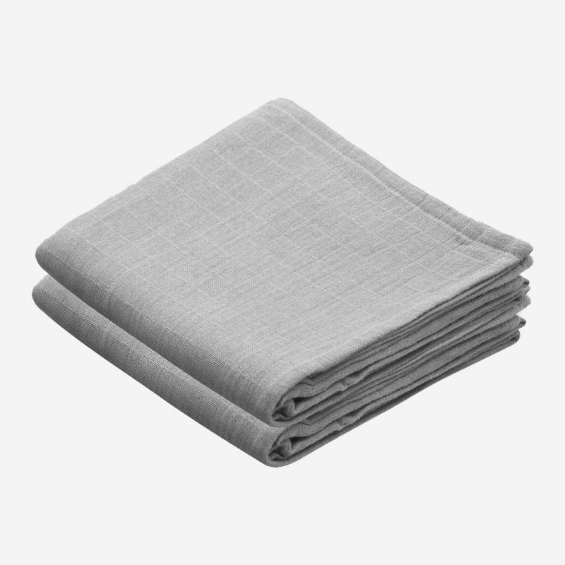 Musselin Tuch 2-er Pack grey
