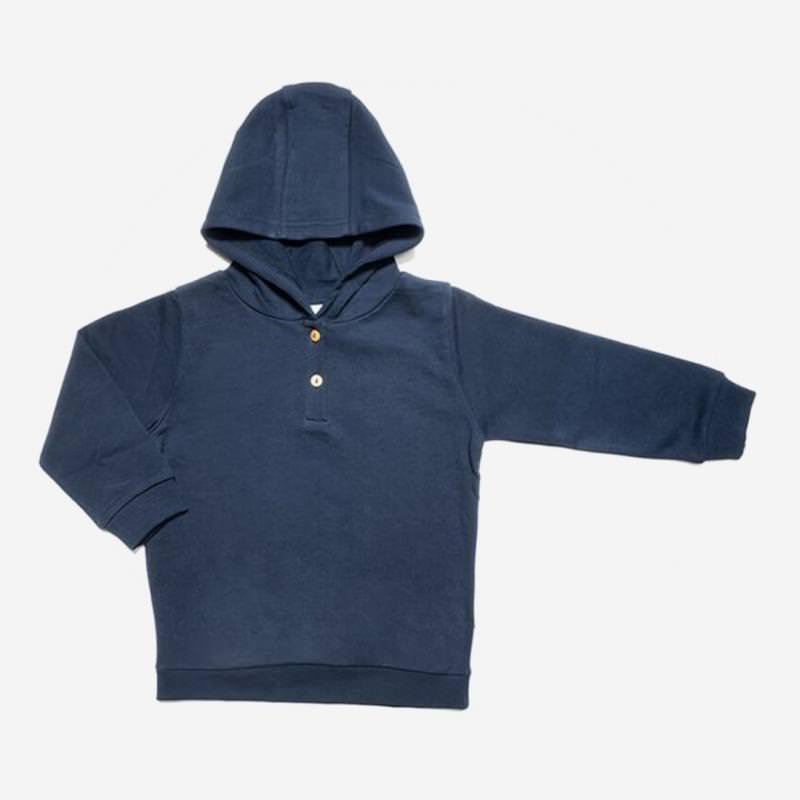 leela cotton kapuzen sweat shirt dungel blau indigo