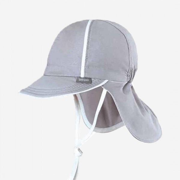 Schirmmütze mit Nackenschutz grau