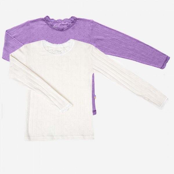 Spitzen Unterhemd Wolle/Seide