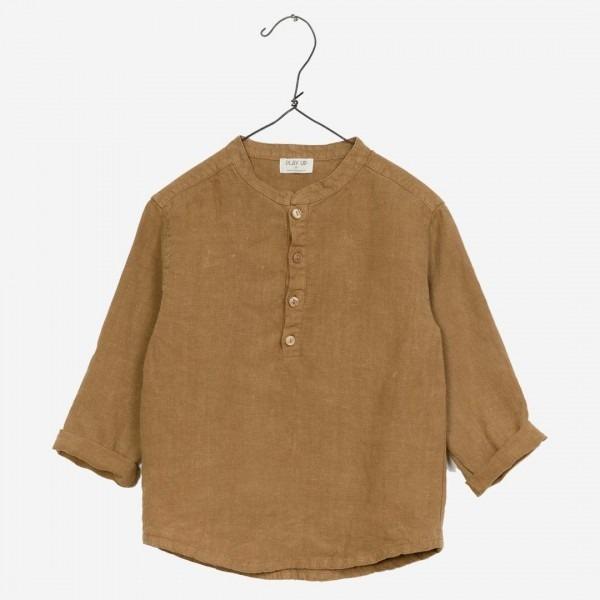 Hemd aus Leinen ochre
