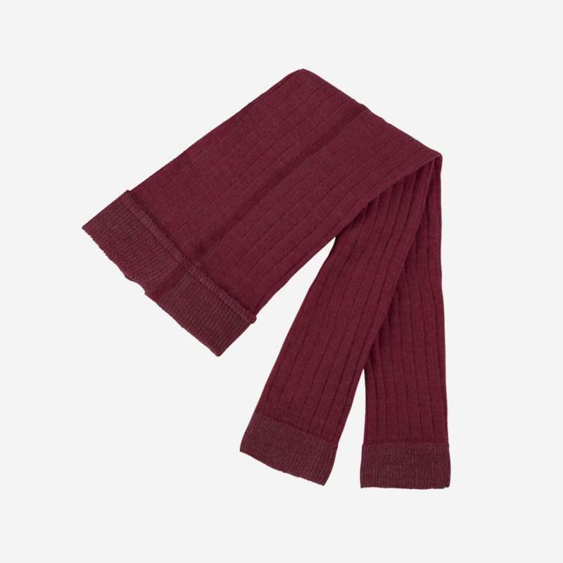 Leggings Wolle/Baumwolle dunkelkirsch