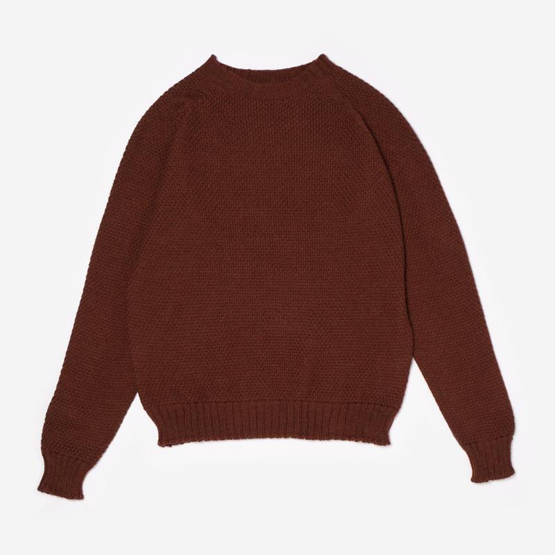 Damen Pullover Wolle bronze