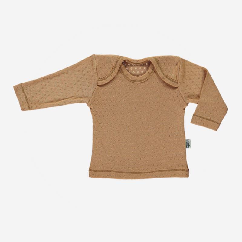 Schlupfhemd BEGONIA Bio-Baumwolle indian tan