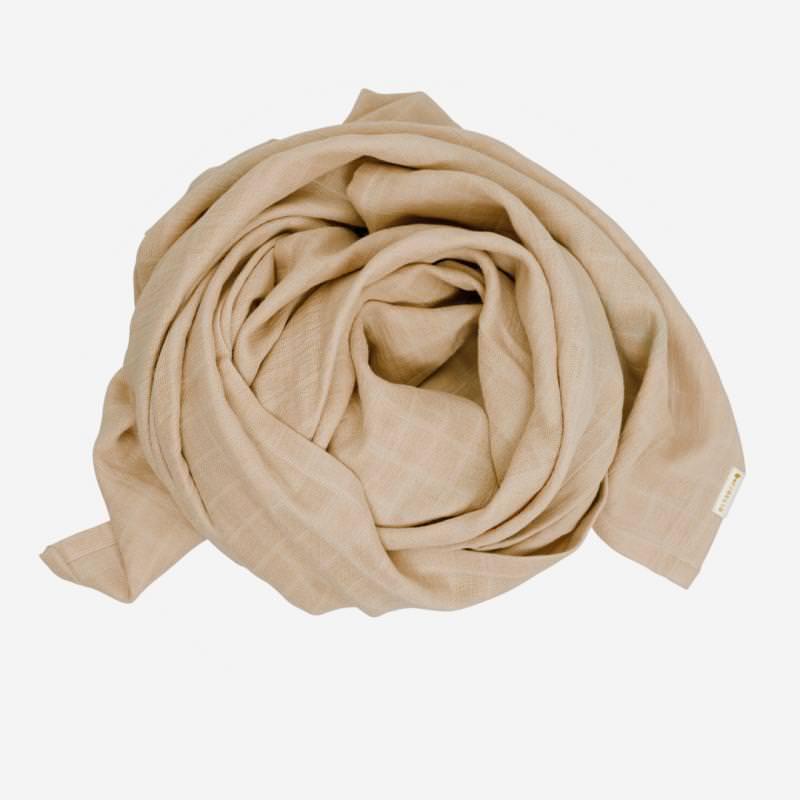 Swaddle Musselin Tuch groß von Fabelabaus Bio Baumwolle in beige
