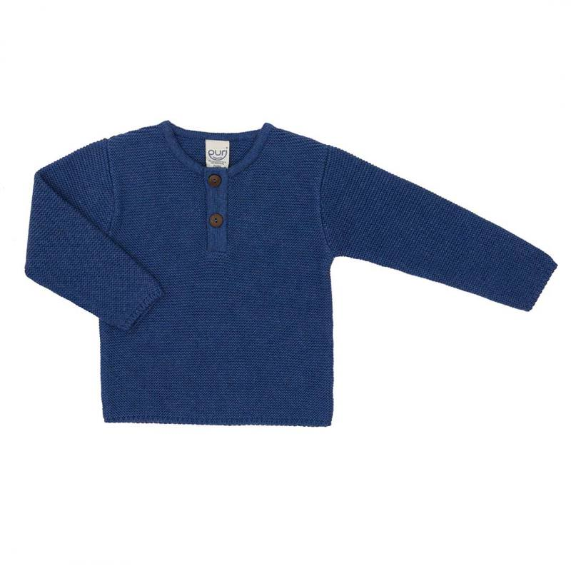 Pullover Henley fjord Baumwolle Wolle