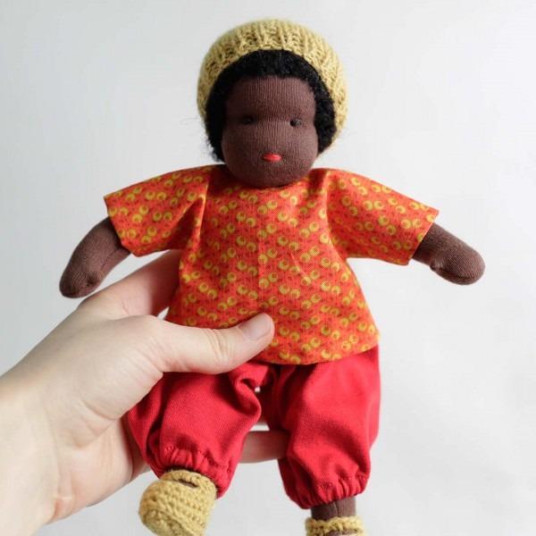Puppen Junge nach Waldorfart klein