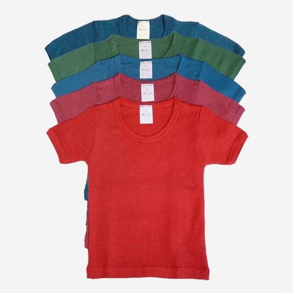 Unterhemd kurzarm Wolle/Seide