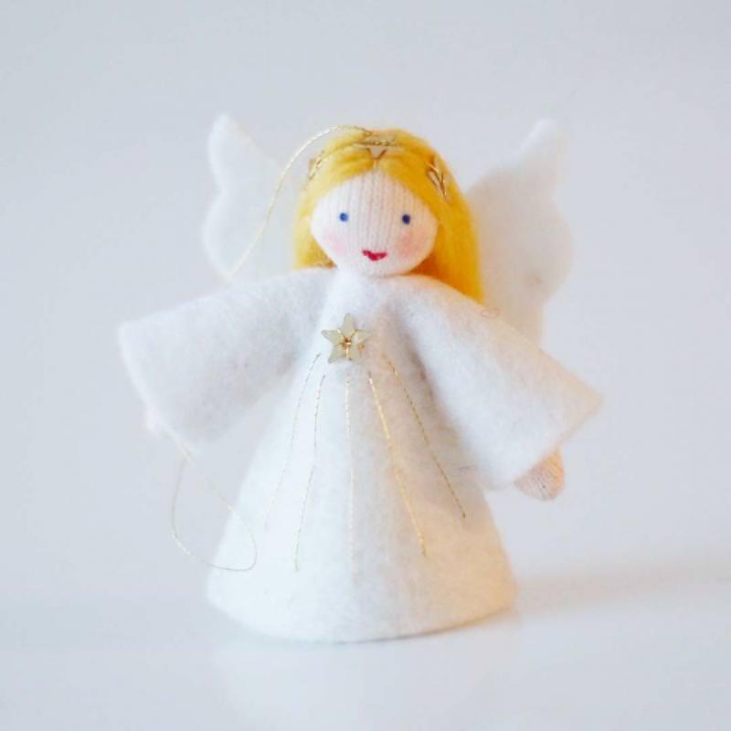 Filzpüppchen Engel hängend blond