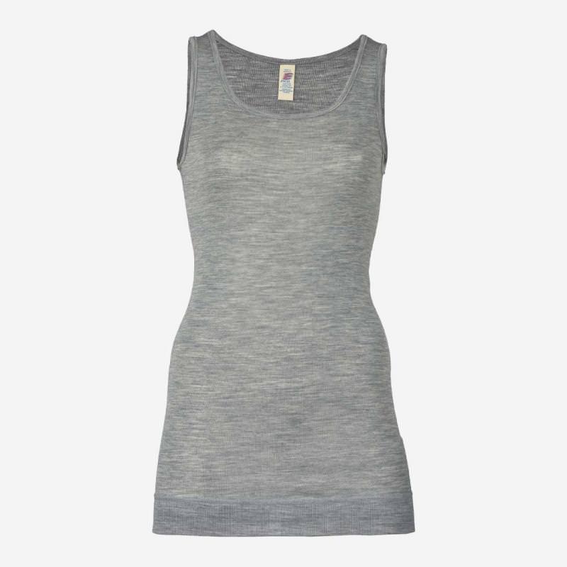 Damen Longshirt Achselhemd grau