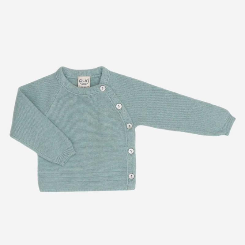 Kimono Jäckchen Baumwolle Seide seagreen