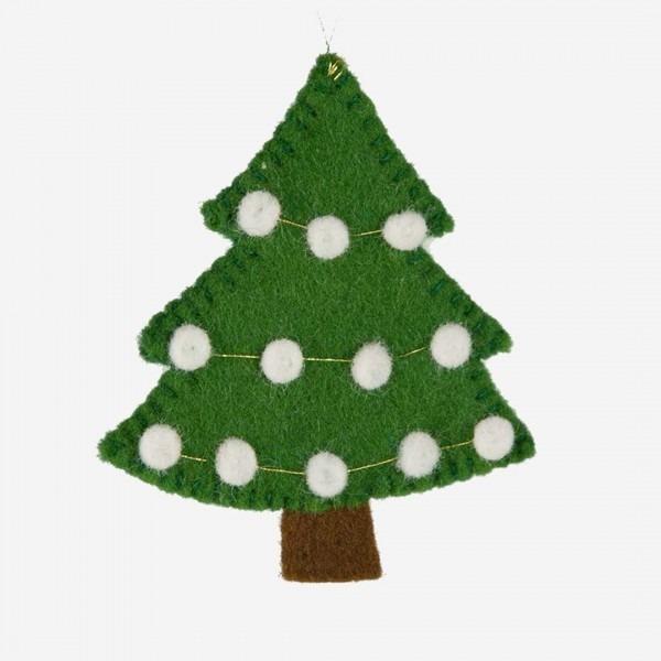 Filz Weihnachtsbaum hängend