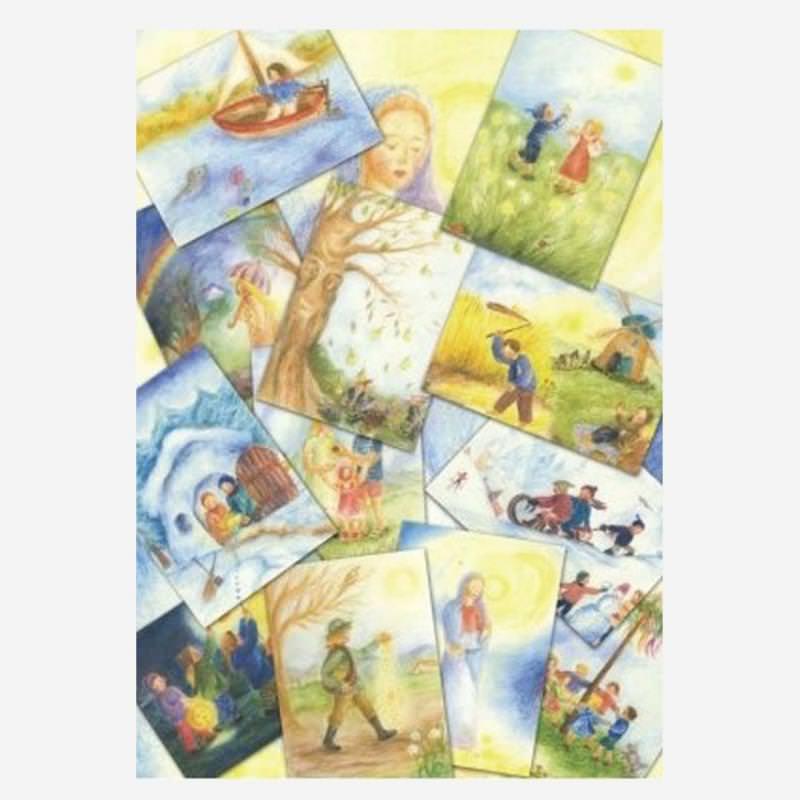 Monatskarten 12er Set Ilona Bock