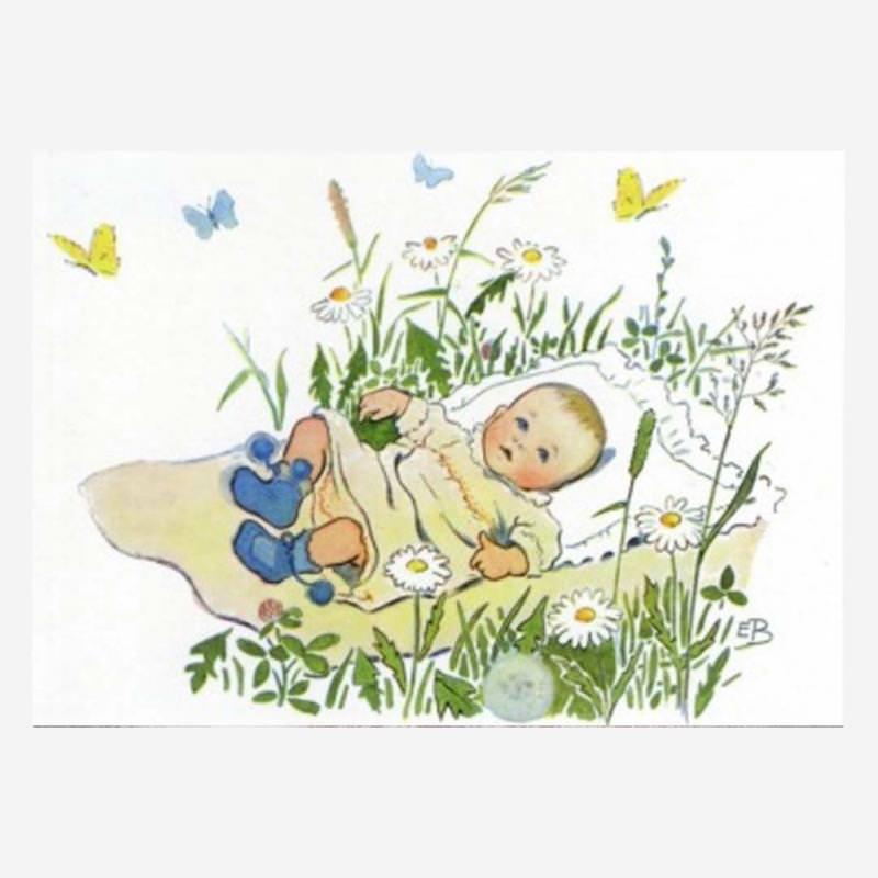 Postkarte Baby von Elsa Beskow