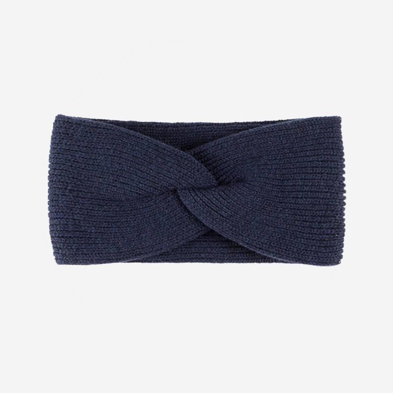 Stirnband blau Pure Pure aus Merino- und Kaschmirwolle