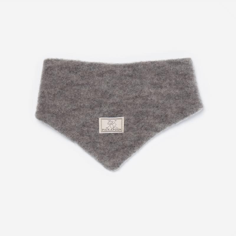 Dreiecktuch Wollfleece grau
