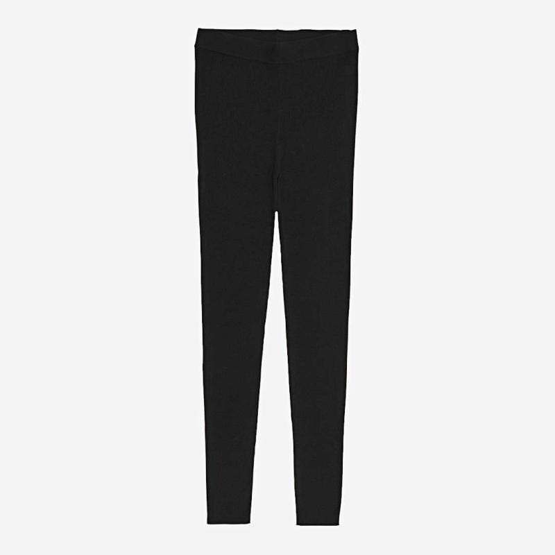 Damen Leggings von FUB aus Wolle black