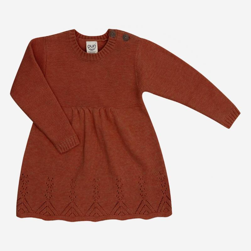 Kleid Ajour von Puri Organic aus Bio-Baumwolle/Wolle in cinnamon