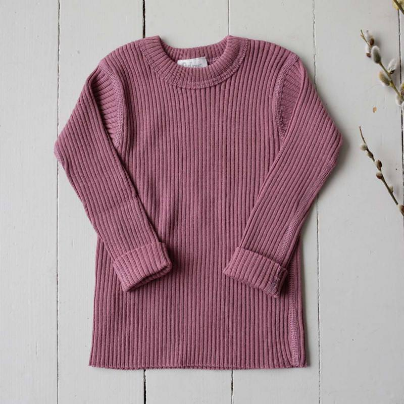 Pullover Wolle rose