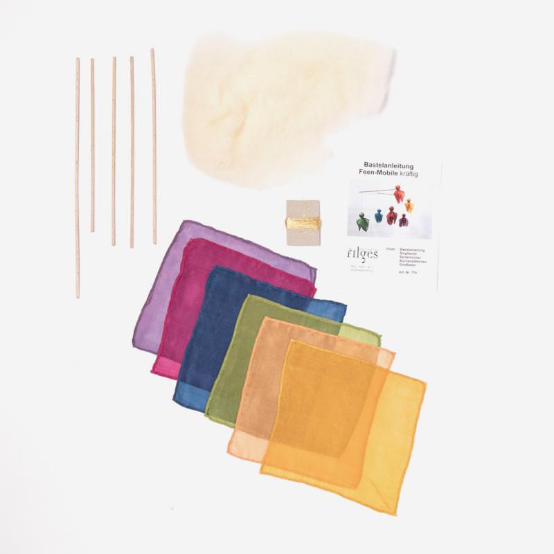 Bastelset Feen-Mobile kräftige Farben