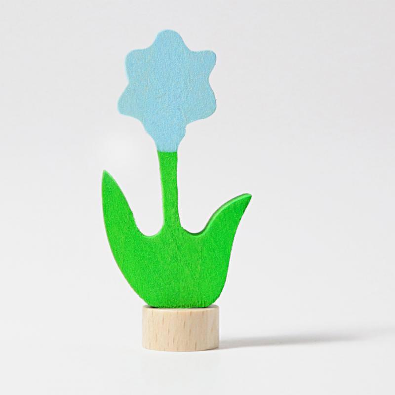 grimms figurenstecker steckfigur holz geburtstagsring adventsspirale blume blau