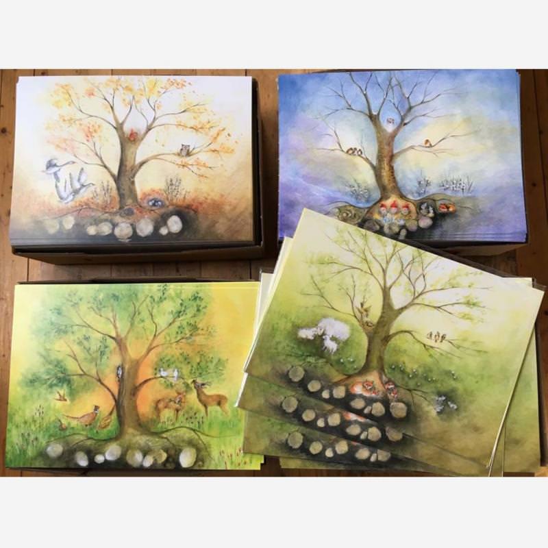 Postkarten Jahreszeiten-Set (4 Postkarten A5)