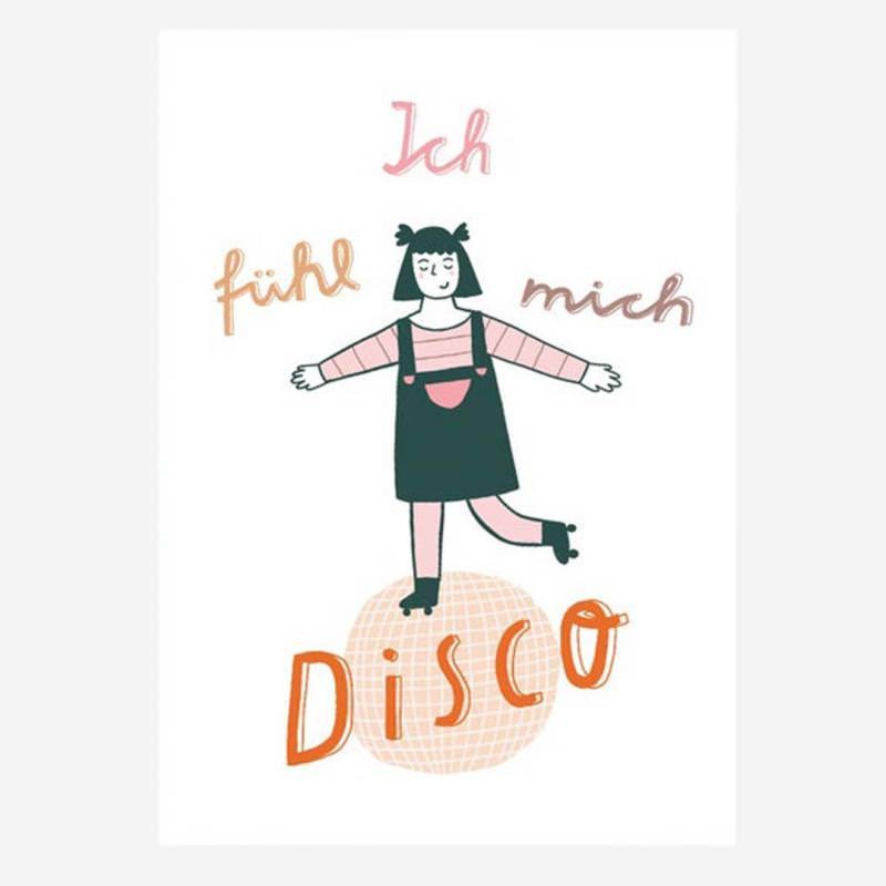 "Postkarte ""Ich fühl mich Disco"""
