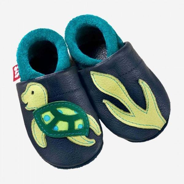 Baby Leder Schühchen Schildkröte