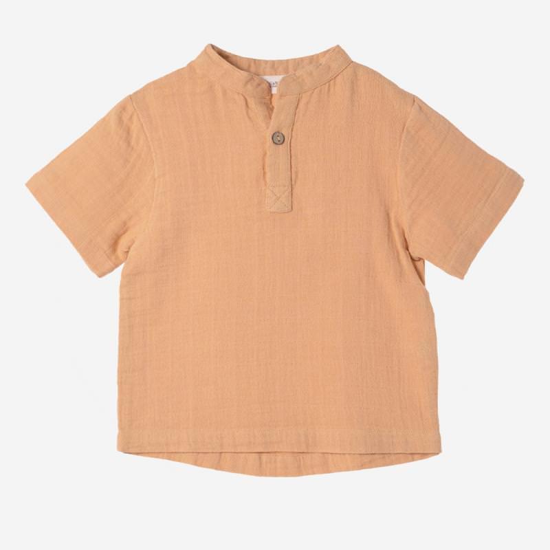 Kurzarm Shirt Farbenspiel ocker