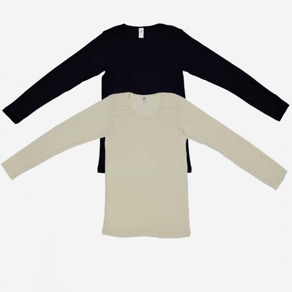 Damen Shirt Wolle/Seide langarm