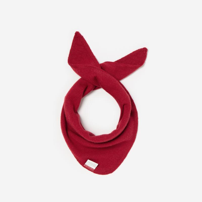 Dreieckschal Wolle rouge